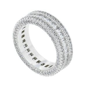 Sparkly Princess Cut Eternity Band Ring